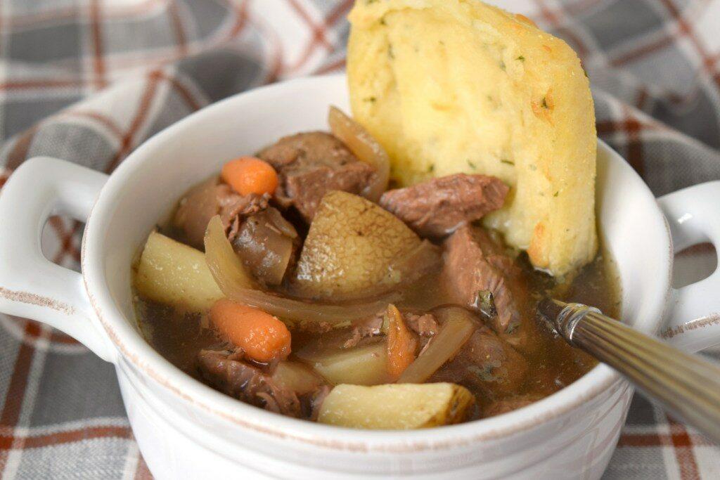 Slow Cooker Pot Roast Soup by- Who Needs a Cape