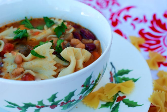Slow Cooker Pasta E Fagioliby- An Alli Event
