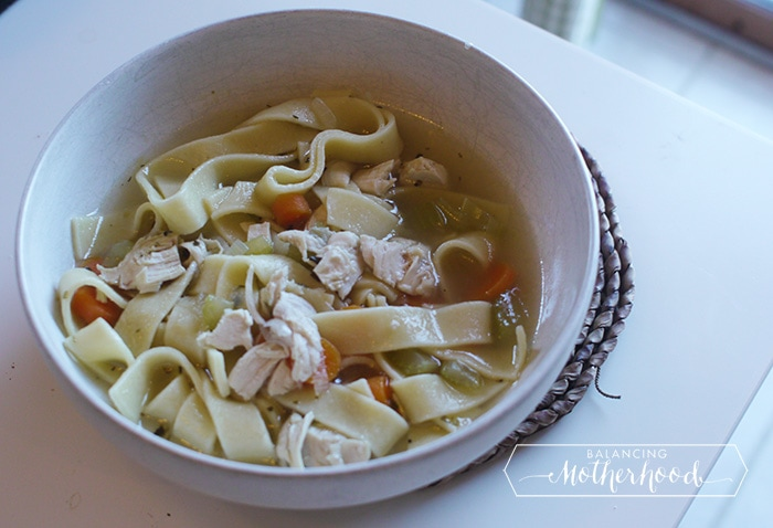 Instant Pot Chicken Noodle Soupby- Balancing Motherhood