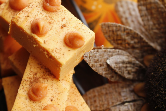 2 Ingredient Pumpkin Cheesecake Fudge Recipe By- The Thrifty Couple
