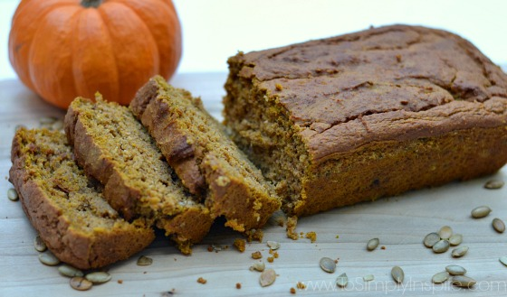Gluten-Free Pumpkin Bread By- To Simply Inspire