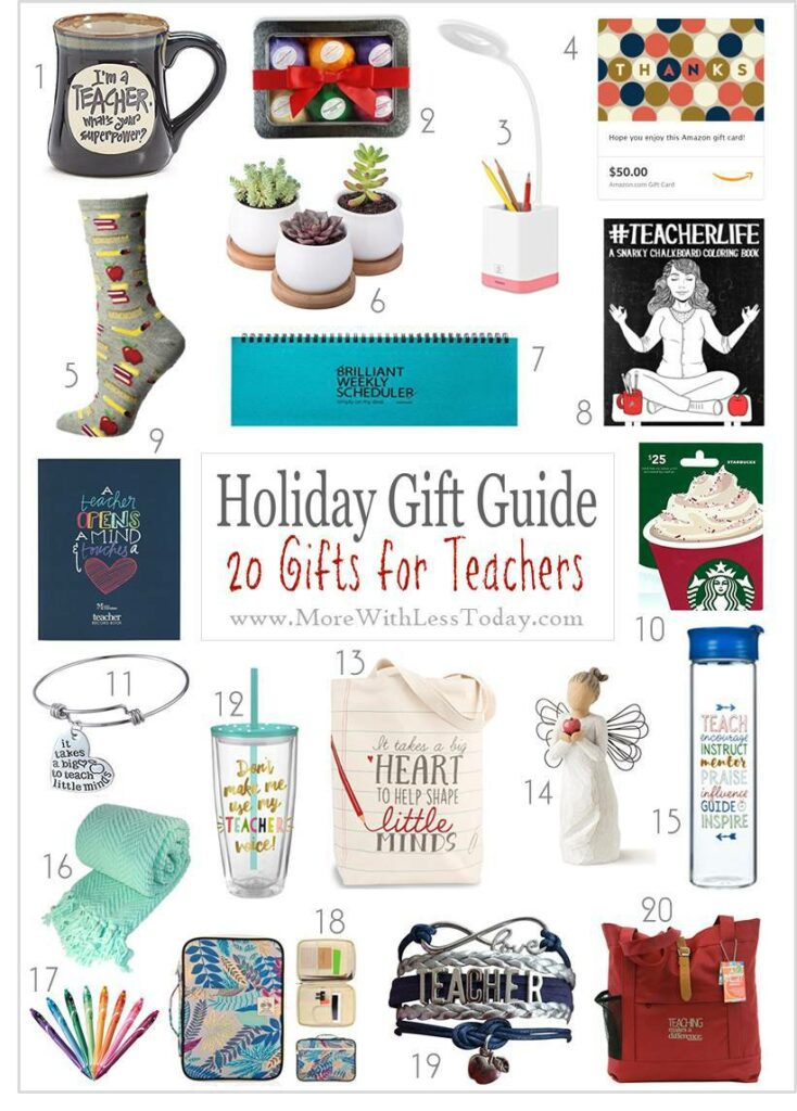 Are you looking for a thoughtful gift for a teacher this year? Check out our roundup of Teacher Gifts: Holiday Gift Guide for Teachers