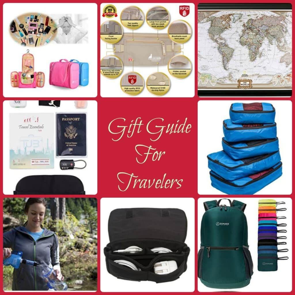 Unique Gifts for the Traveler collage