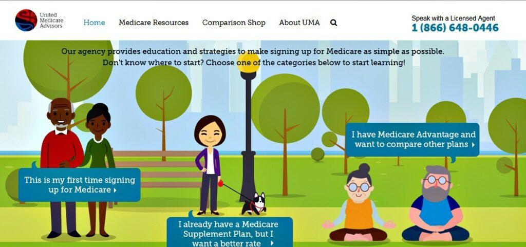 United Medicare Advisors website