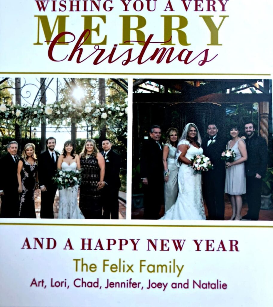 Wishing you a very Merry Christmas! From our family to yours, wishing you peace, love, and joy this holiday season!