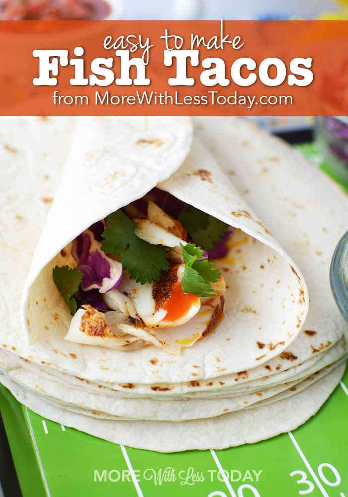 Easy to Make Fish Tacos recipe from More with Less Today