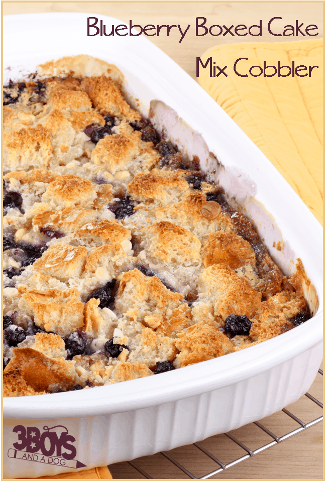 Blueberry Cake Mix Cobbler