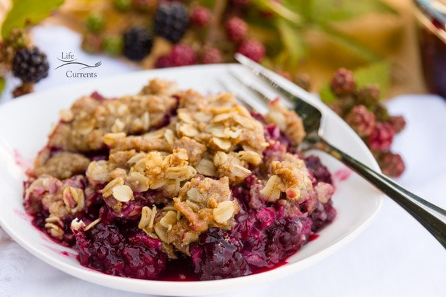 Blackberry Peach Fruit Crisp Oatmeal Cookie Crumble