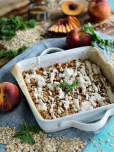 Gluten-Free Peach Cobbler Bars – Vegan