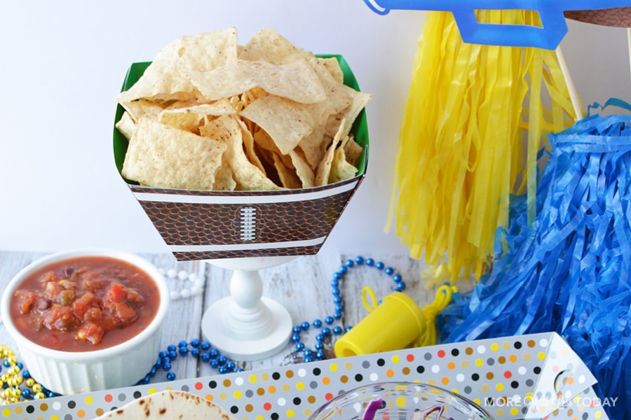 chips and salsa for a sports themed party