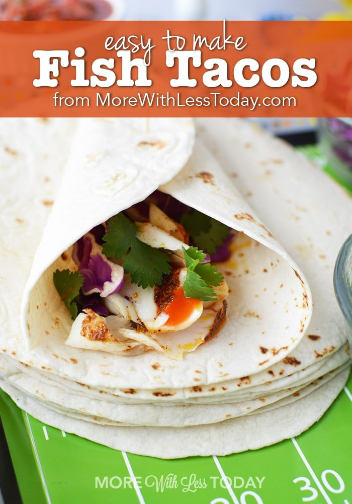Easy to make fish tacos a lightened up recipe for Making fish tacos