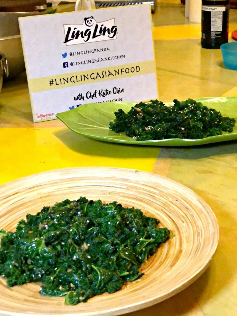 Chinese New Year menu Kale cooking tips Ling Ling event in Los Angeles