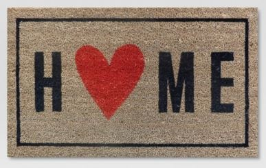 Home Heart Welcome Mat from Target.com