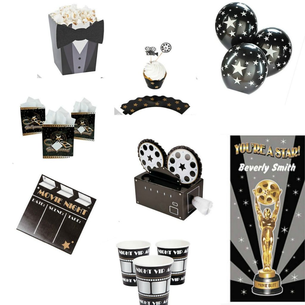 "Why not throw a movie night awards party and invite your friends? There are lots of ways you can have fun with this! We found inexpensive decor. You can have an award for ""Best Dressed"" and encourage everyone to break out those evening clothes just handing in the closet."