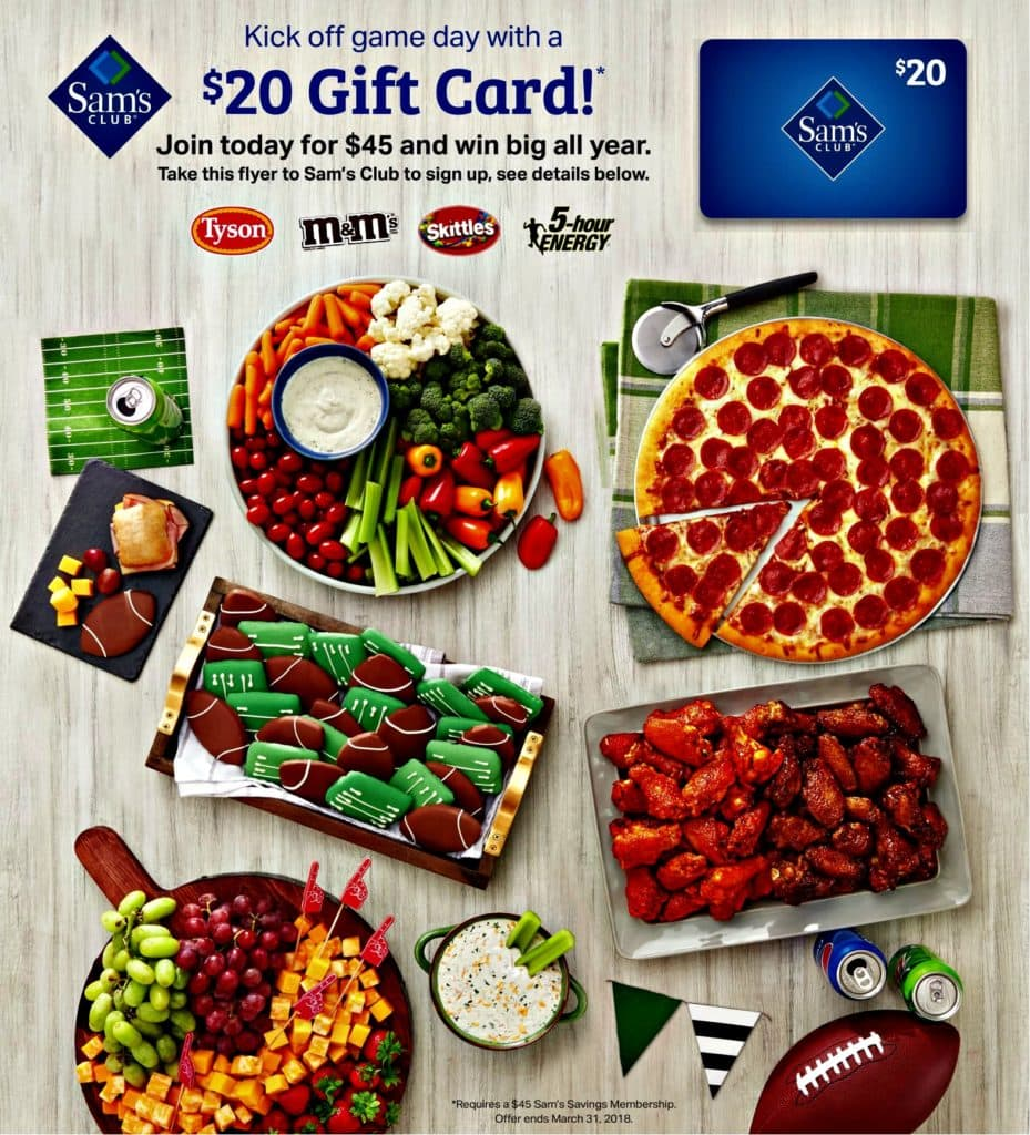 Just in time for the Big Game, Sam's Club has a sweet new membership deal with a $20 gift card, plus a Giveaway and a Twitter Party! Get the details!