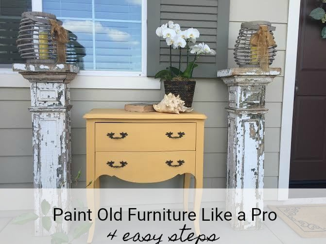 Learn how to paint old furniture win 4 easy steps with Chalk Paint® by Annie Sloan.The hardest part is choosing which beautiful color to use!