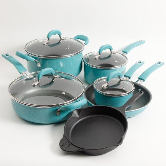 Speckle 10-Piece Cookware Set Pioneer Woman at Walmart