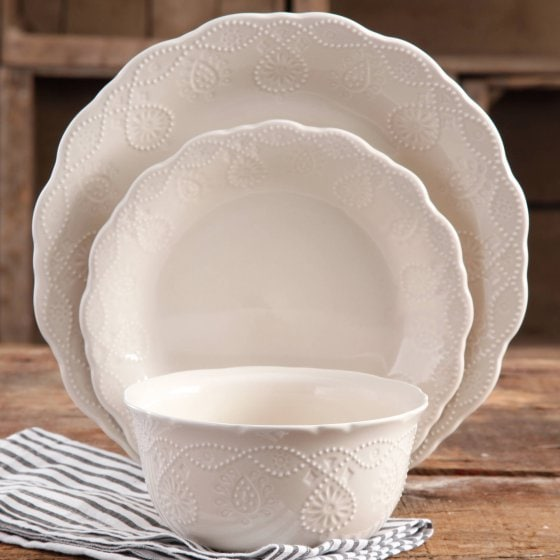 Farmhouse Lace Dinnerware Pioneer Woman Collection at Walmart