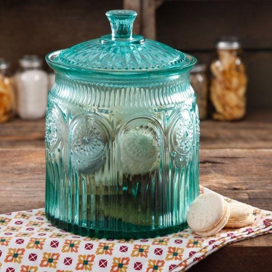 Turquoise Adeline Cookie Jar Pioneer Woman at Walmart