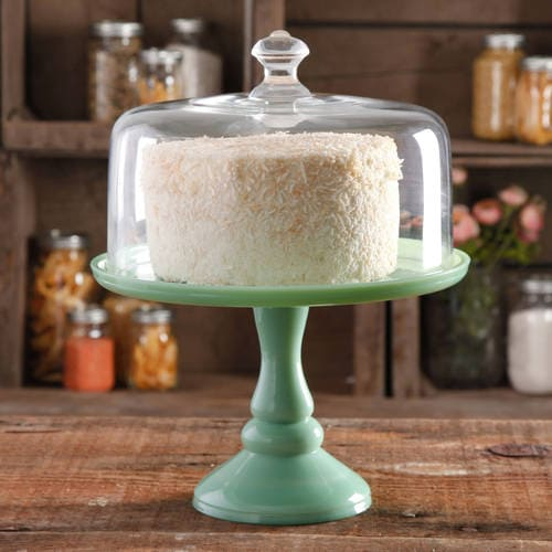 """10"""" Cake Stand with Glass Cover Pioneer Woman at Walmart"""