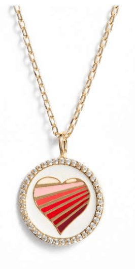 Valentine's Day heart necklace from Nordstrom