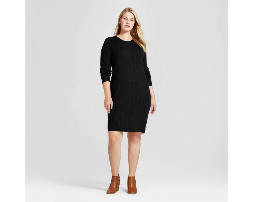 Target plus size black dress