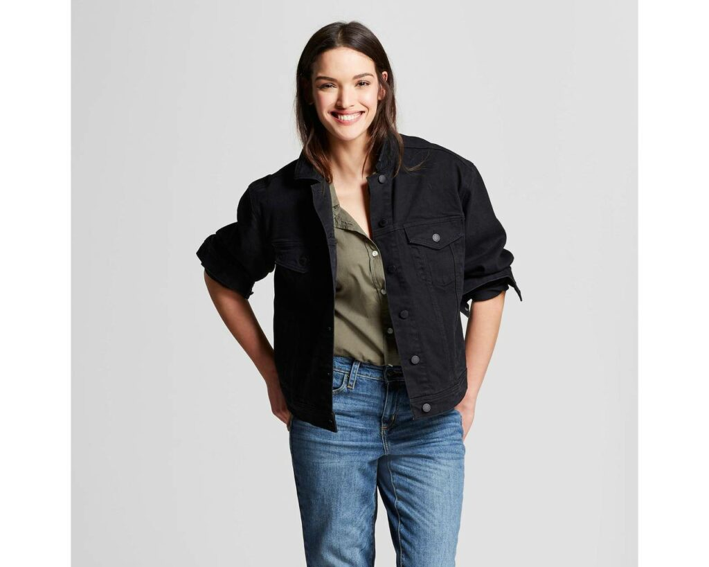 Target plus size jean jacket