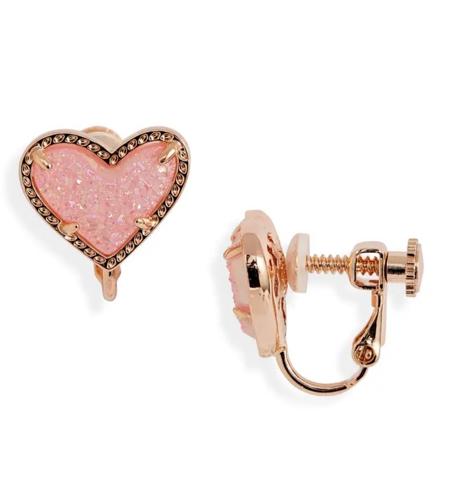 Kendra Scott Ari Heart Drusy Earrings