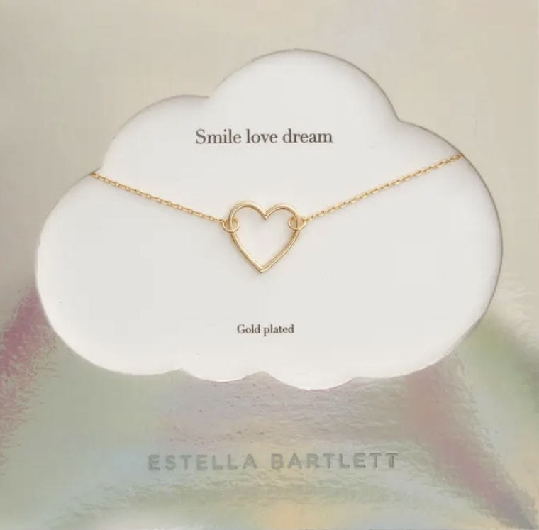 Smile Dream Love Open Heart Necklace - ESTELLA BARTLETT