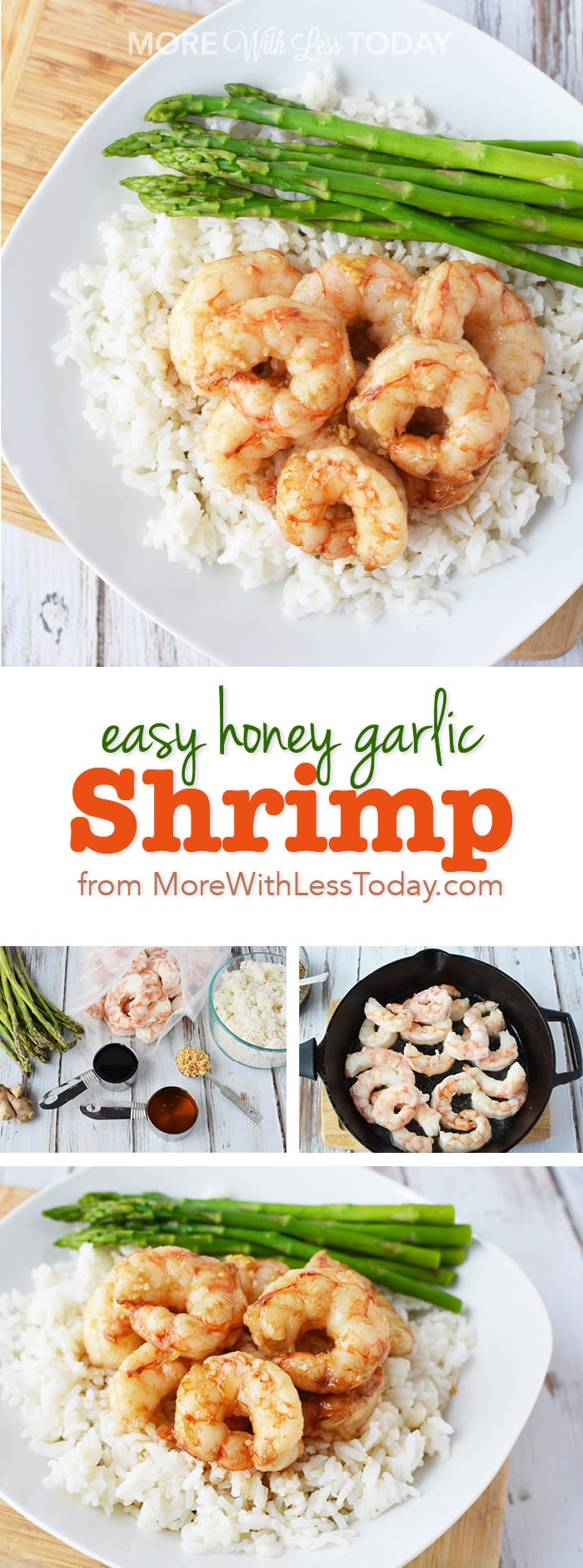 Easy Honey Garlic Shrimp recipe for Pinterest