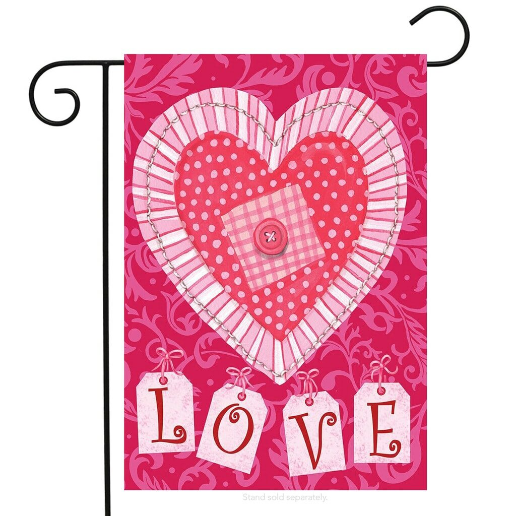 Love Hearts Valentine's Day Garden Flag from Walmart.com