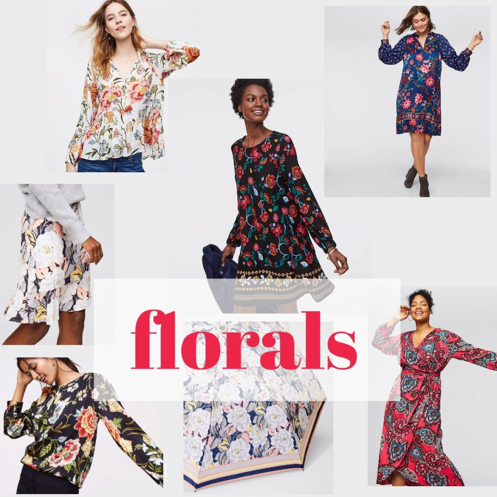Spring floral outfits from LOFT