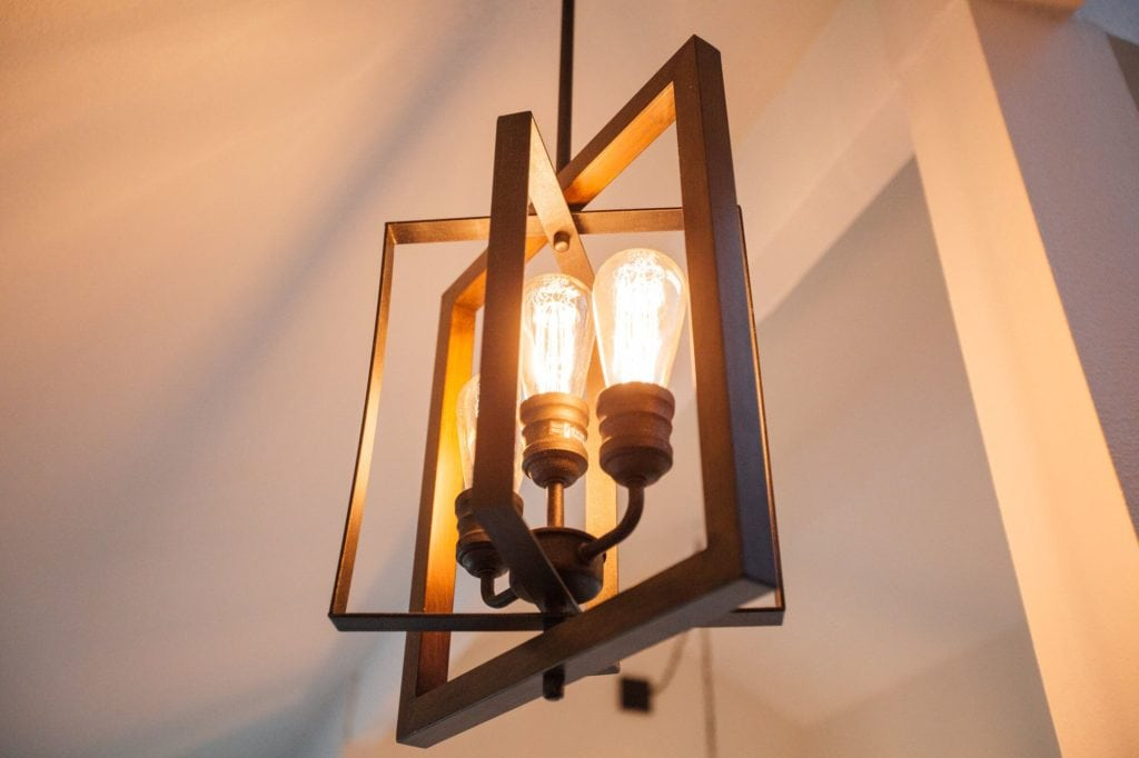 Palermo Grove Collection 3-Light Gilded Iron Pendant