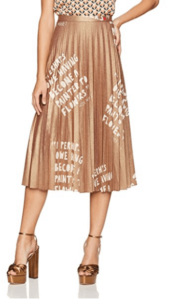 Lexington Avenue Pleated Metallic Skirt Dear Drew Collection