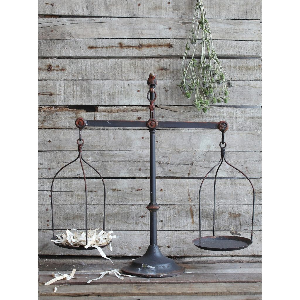 iron scale farmhouse decor