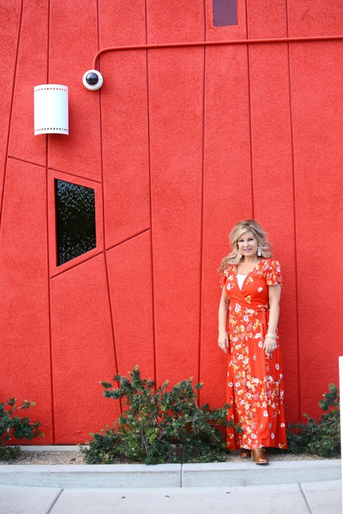 If you are looking for a maxi dress, see the bright and colorful maxi dress I wore for a conference last week in Palm Springs. It's a perfect wrap dress for vacation and for the sunny days ahead.