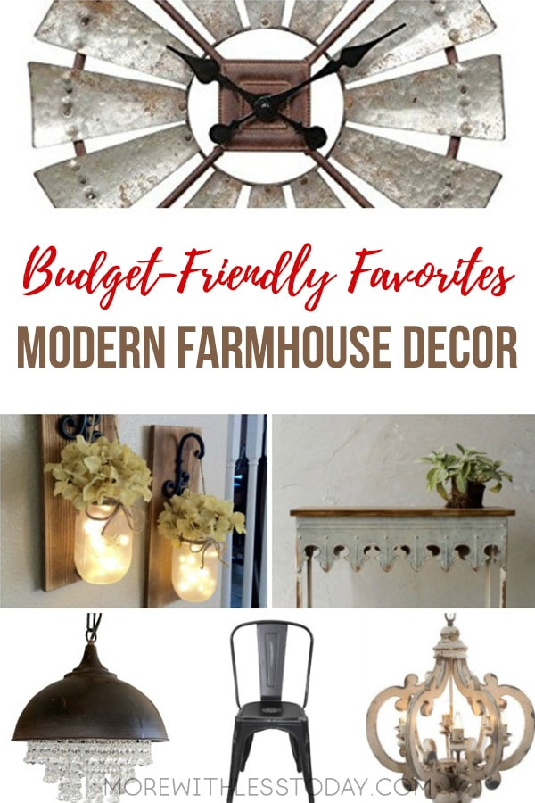 Do you love any and all things farmhouse? Are you like me and like the look of the old mixed in with the new? Here are some of myModern Farmhouse Decor budget-friendly favorites. [commissionlink] #farmhousedecor #homedecor #budgetdecor