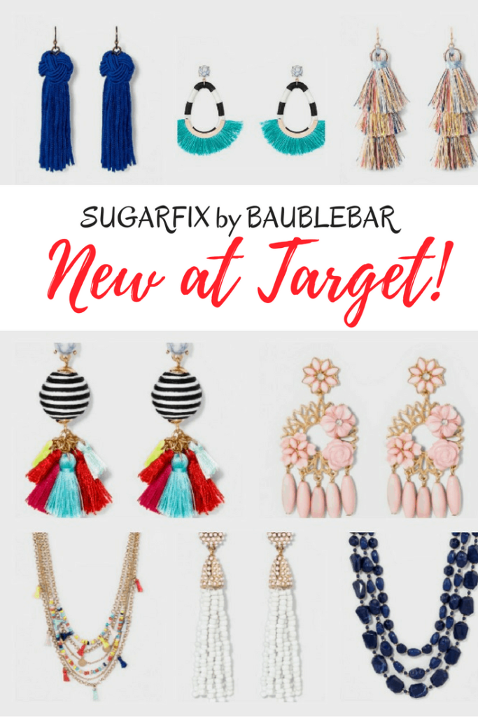 Sugarfix by Baublebar New at Target - More Affordable Statement Earrings. Target has a new line of jewelry called SUGARFIX by BaubleBar. In addition to their statement earrings, you'll also find great necklaces and chokers too. Sugarfix by BaubleBar will get your outfit accessorized perfectly!