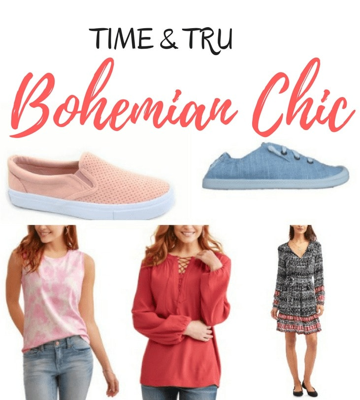 New! Time and Tru Collection - Bohemian Chic Style from Walmart. Have you seen the new Time & Tru collection at Walmart? It's affordable Bohemian Chic clothing for women and it is very popular!
