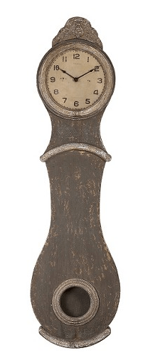 distressed wood clock farmhouse