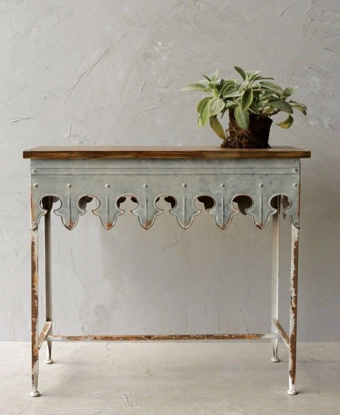 metal table farmhouse decor