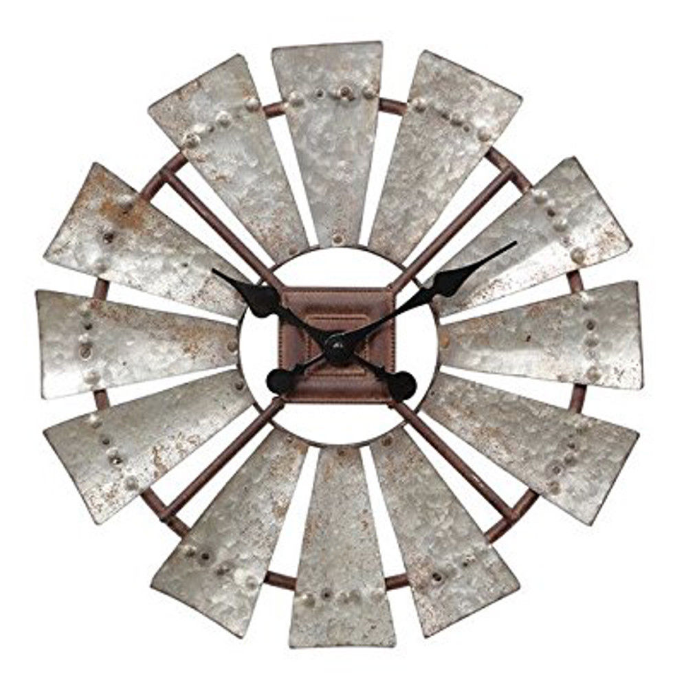 windmill metal clock farmhouse