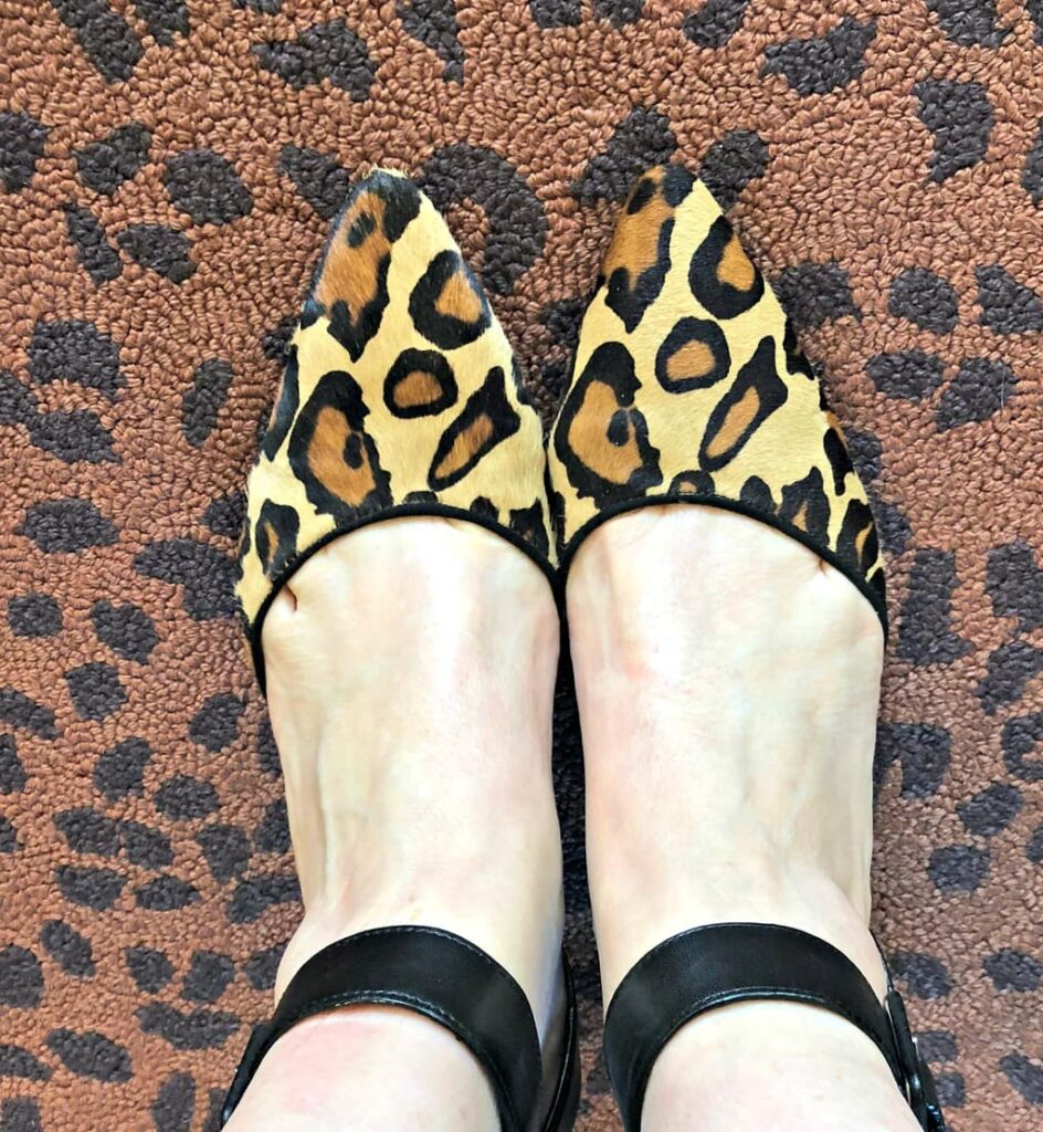 Sam Edelman leopard pumps with ankle strap