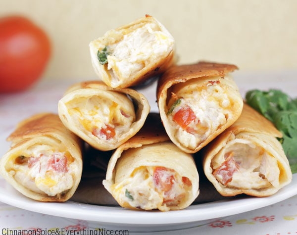 Chicken & Cream Cheese Taquitos _ Cinnamon Spice & Everything recipe