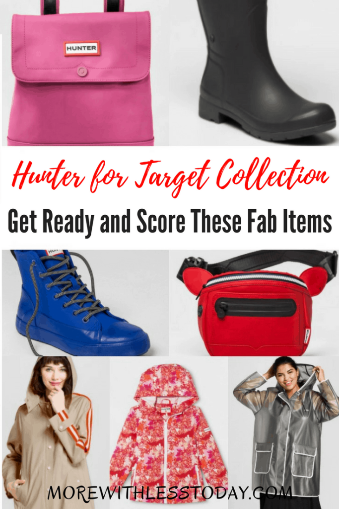 Hunter for Target Collection: Get Ready and Score These Fab Items! If you are a fan of this hip British brand, you will find boots, clothing, accessories and home decor, starting at $5.00. Hurry, this collection will be popular!