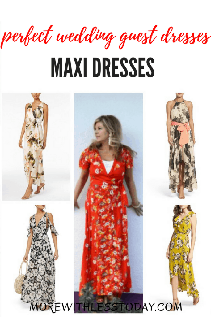 Floral Maxi Dresses - Perfect Wedding Guest Dresses and Summer Party Dresses. Find the prettiest dress to wear to that summer wedding and stay on budget. We've included tips on how to style a maxi dress to complete your outfit.