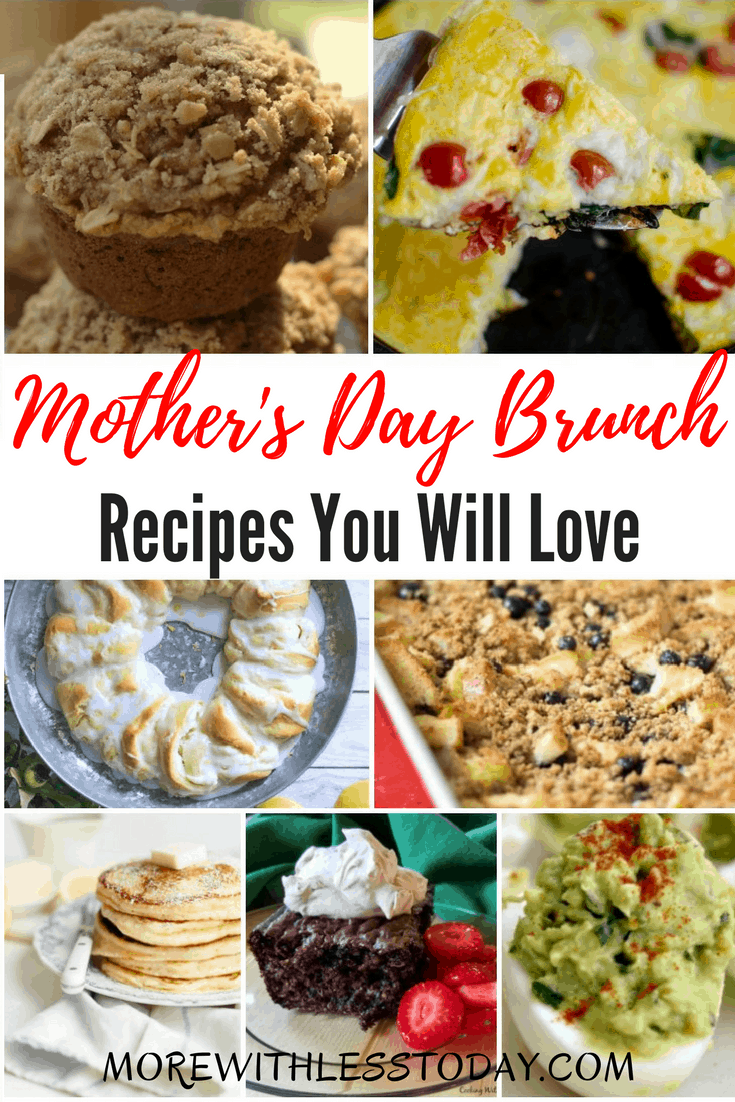 Mother's Day Brunch Recipes That Everyone Will Love! Mother's Day is the one day of the year to totally pamper mom. A brunch is a great way to get the whole family together to share food and fellowship. Here are some recipes I am looking forward to trying and I think you will like them too.
