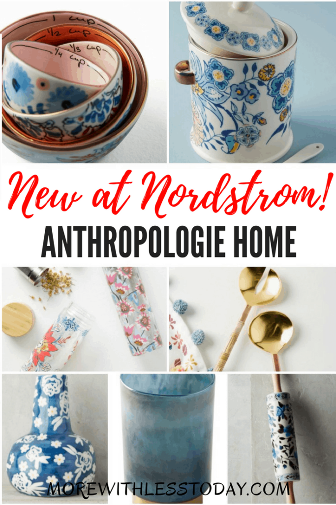 Anthropologie Home New at Nordstrom - For the first time in their history, Anthropologie bedding, serveware, and home decor are available outside of their stores and are now available at Nordstrom, just in time for Mother's Day.
