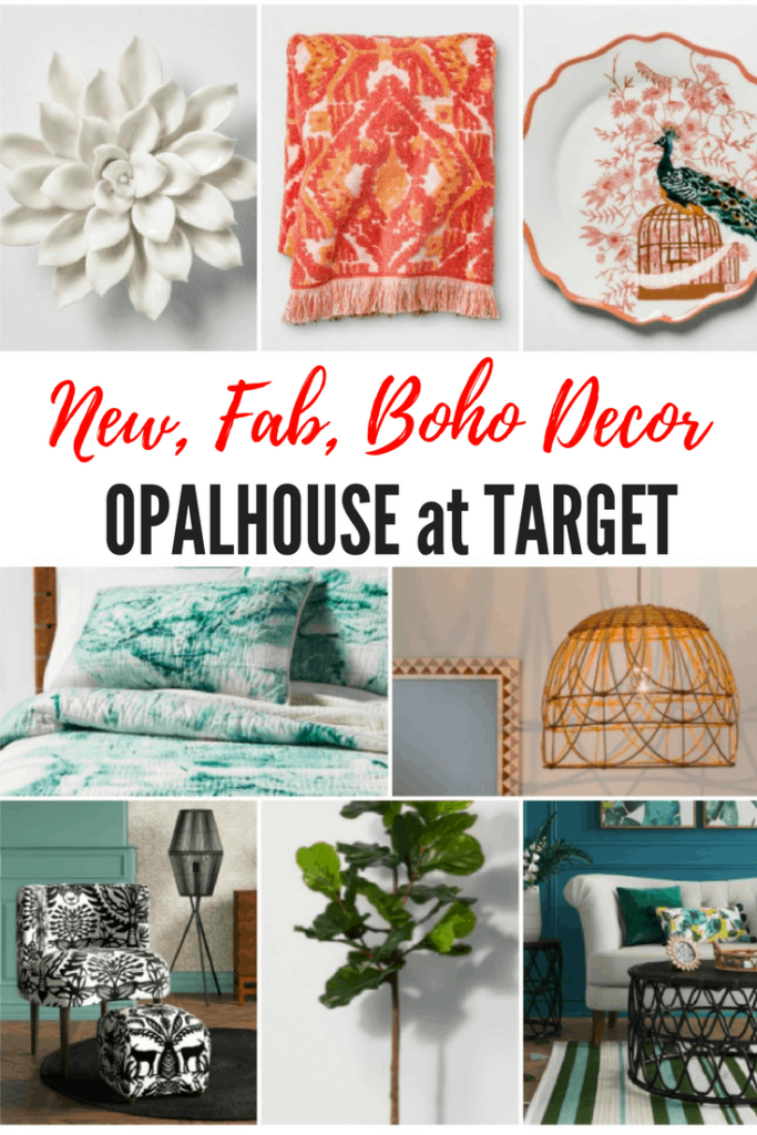 New! Opalhouse™Collection at Target - Just Launched with rave reviews. You'll find home decor, furniture, bath, bedding and so much more. And they are all affordable which is a perfect fit for me and for my savvy readers!