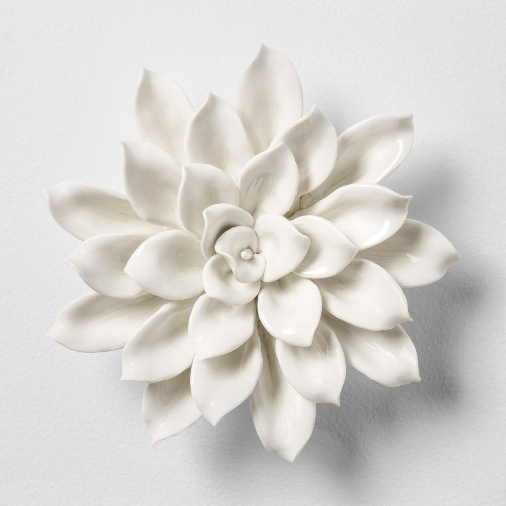 Porcelain Flower Decorative Wall Sculpture - Opalhouse™ at Target